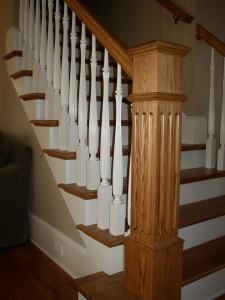 wood finished staircases
