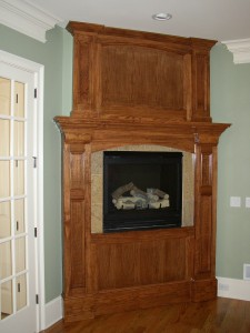 wood faux fireplaces